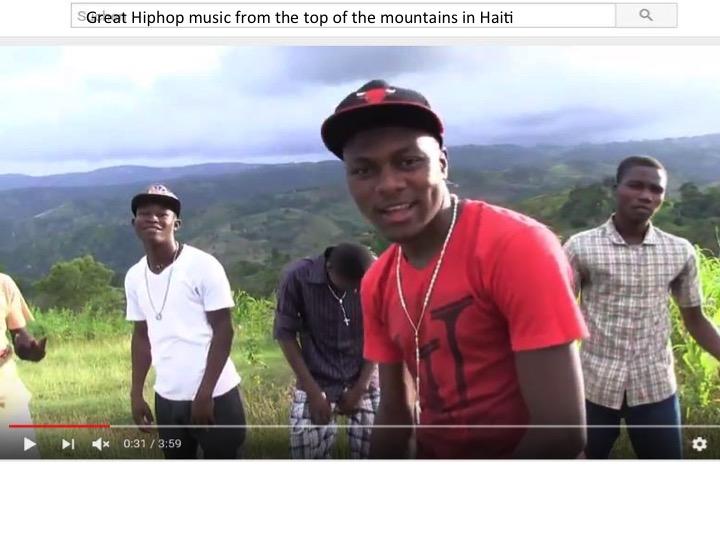 Hip-hop depuis la montagne à Haïti