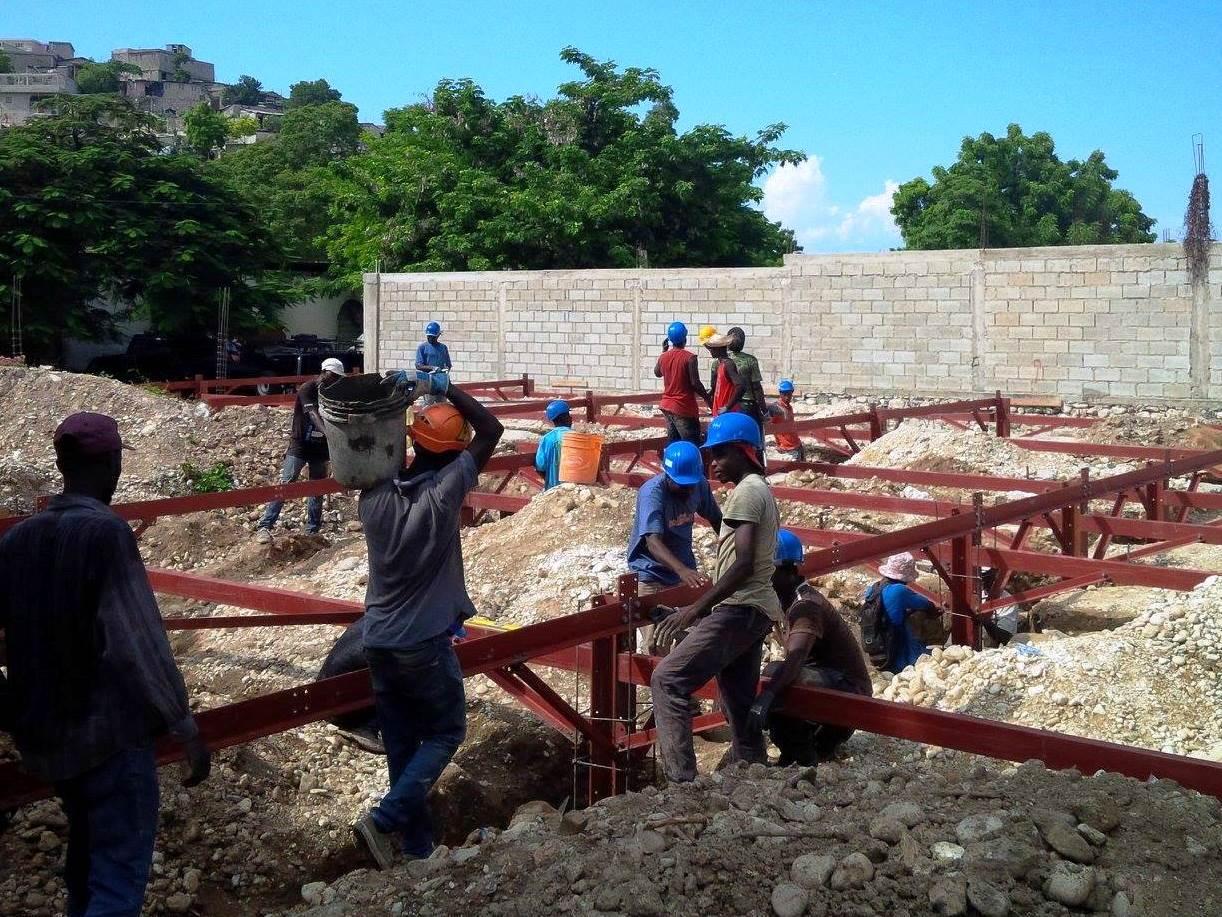 Construction de l'école antisismique