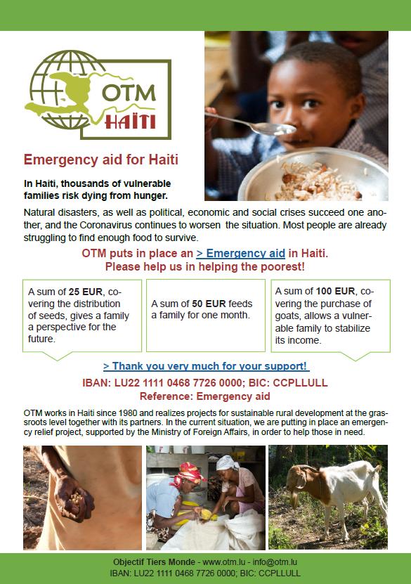 Flyer Emergency aid 2020